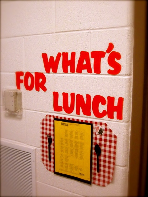 Lunch Menu Display - could display outside the classroom or in a special part of…