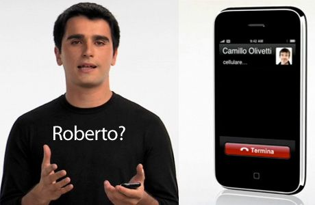 2008: Spotted in the contact list of an iPhone 3G ad in Italy is Camillo Olivetti, the founder of the nation's most famous exporter of electronics