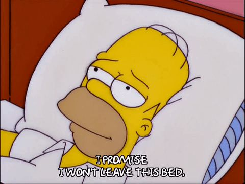 New trending GIF on Giphy. homer simpson season 11 episode 19 weekend tired sleep bed sleeping 11x19 oath relaxation resignation assuring immobile i promise i wont leave this bed. Follow Me CooliPhone6Case on Twitter Facebook Google Instagram LinkedIn Blogger Tumblr Youtube