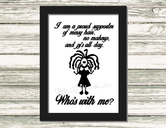 No Makeup Quote Art Funny Quote Word Art by ByMyWordCreations