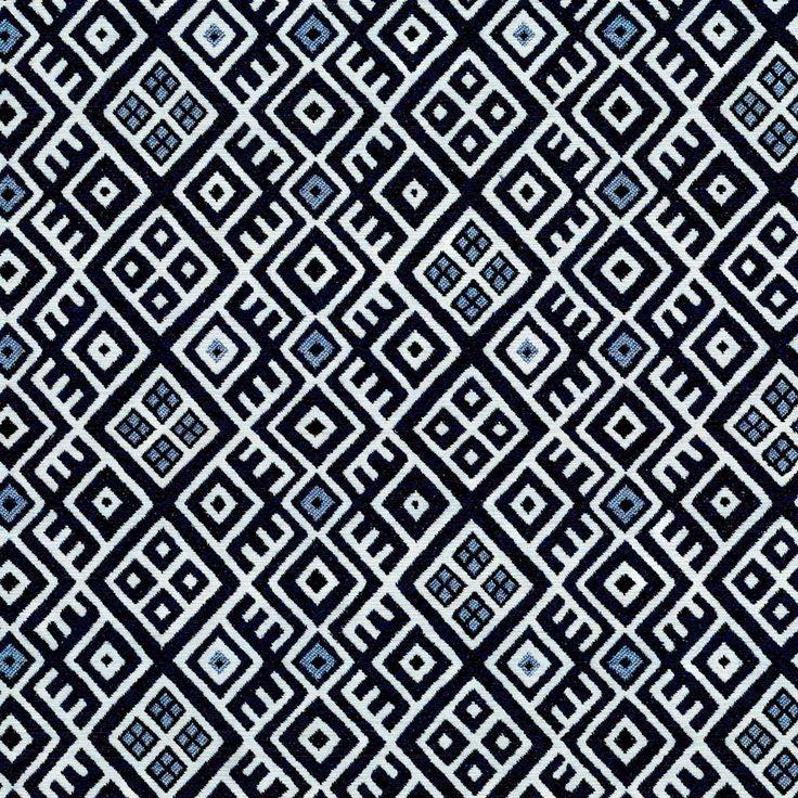 tissu jacquard noir et blanc congo tissus maison. Black Bedroom Furniture Sets. Home Design Ideas