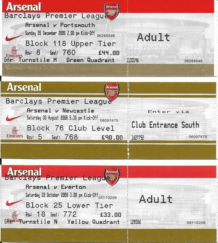 3 arsenal football tickets #2008-09 #season v newcastle #united,everton,portsmout,  View more on the LINK: http://www.zeppy.io/product/gb/2/371833210831/
