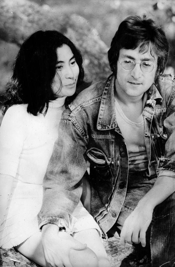 Yoko Ono & John Lennon Pic Forming With Michael De Luca, Anthony McCarten, Josh Bratman