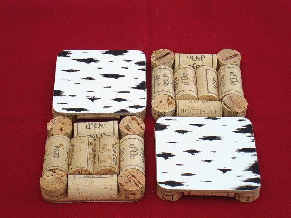 Stands for hot and under glasses of wine corks / Подставки под горячее и под стаканы из винных пробок