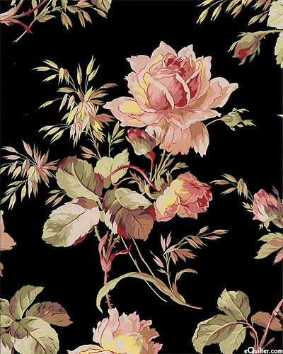 """Great Robyn Pandolph print for a sweeping shirtdress. Larger flowers are about 5 1/2"""", from the 'St. Remy de Provence' collection for RJR Fabrics."""