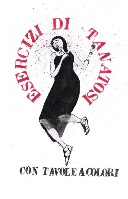 """copertina / book cover  tullio   corda's illustration  from the series """"esercizi di tanatosi"""""""