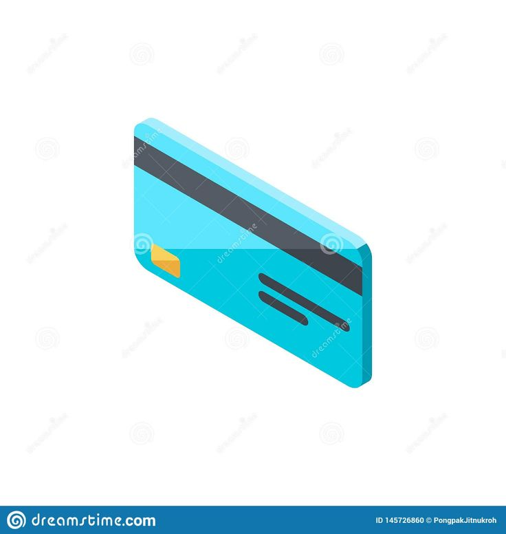 Credit Card, Isometric, Flat Icon Stock Vector – Illustration of money, graphic:…