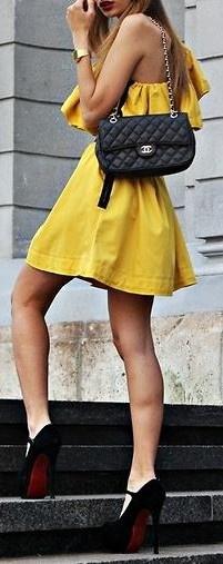 stylish yellow ♥✤ | Keep the Glamour | BeStayBeautiful