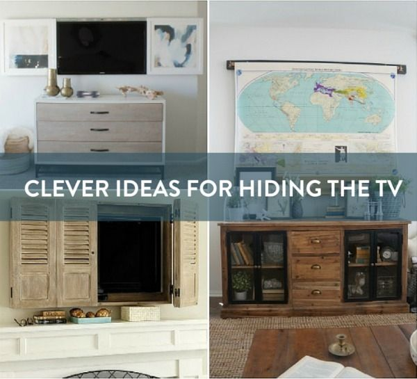 Mive Holzmobel Wohnideen Bergmann | 20 Ways To Elegantly Decorate Around And Disguise Your Tv For The