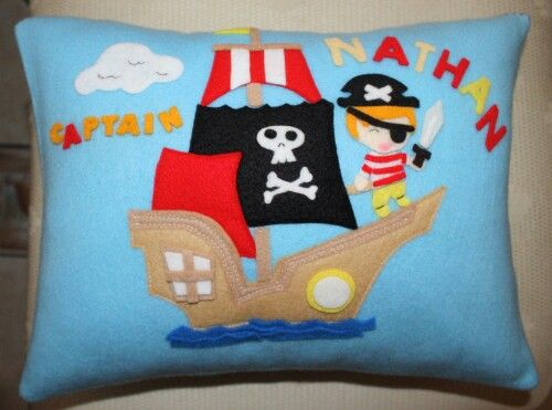 Boys custom made pillow Aarrgghh... matey
