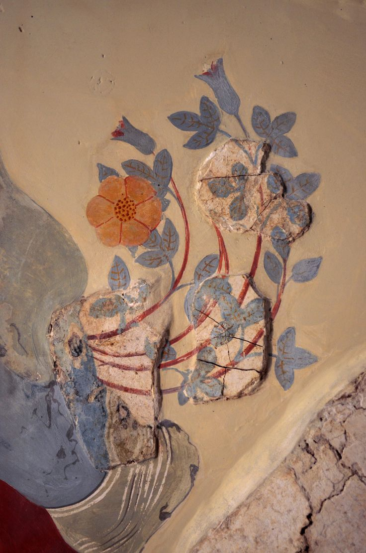 "Panel from a large landscape fresco that once decorated a spacious room of a house west of the palace of Knossos, named the ""House of the Frescoes"" after the sequence of three surviving panels...."
