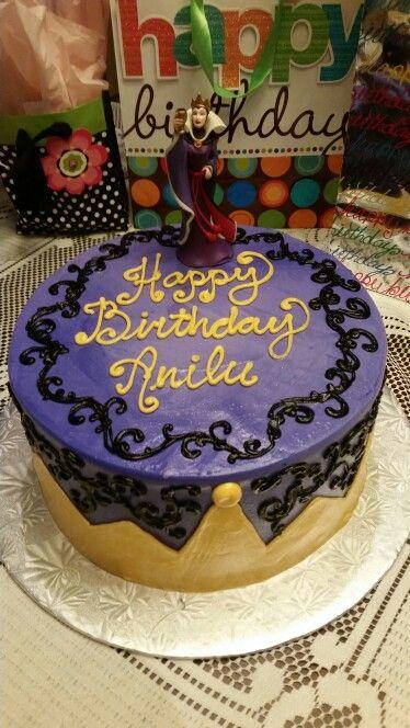 Evil Queen birthday cake