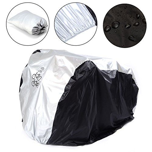 SAVFY Double 2 Bike Cover 180T Heavy Duty - Bicycle Cover Waterproof Outdoor - Suits Mountain Road, Electric and Cruiser Bikes - http://mountain-bike-review.net/products-recommended-accessories/savfy-double-2-bike-cover-180t-heavy-duty-bicycle-cover-waterproof-outdoor-suits-mountain-road-electric-and-cruiser-bikes/ #mountainbike #mountain biking