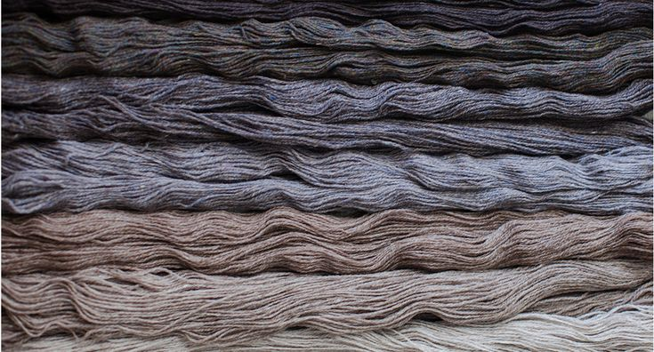 The results: soft heathered shades of 2-ply wool