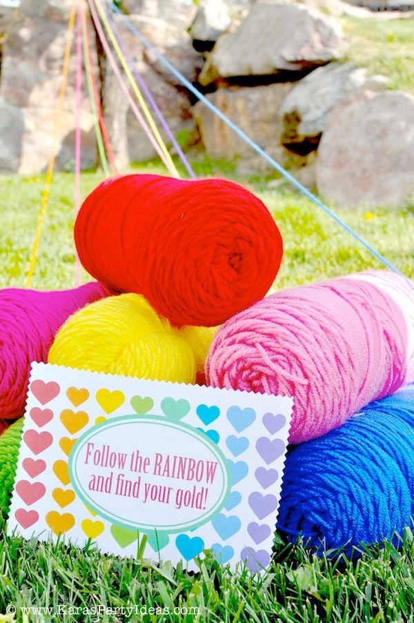 Rainbow/Art Themed Party Kara's Party Ideas this could make a fun treasure hunt!!!!!