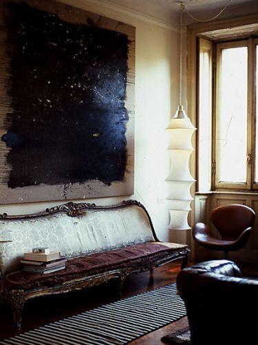 That painting: Interior Design, Sofa, Living Rooms, Livingroom, Interiors, Art, Space, Painting