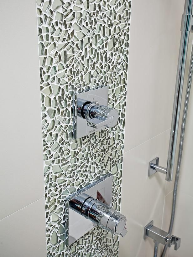 Bits of Glitz - Bathroom Tiles for Every Budget and Design Style on HGTV.. love this for the shower!
