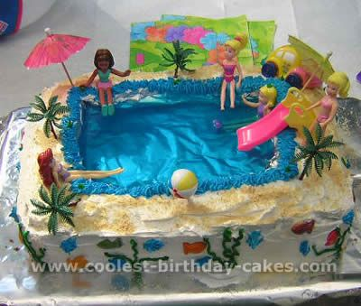 Rockin' Pool party cake for Zoe's b-day, Pool and Jello Cake Recipe omg we could use lego friends
