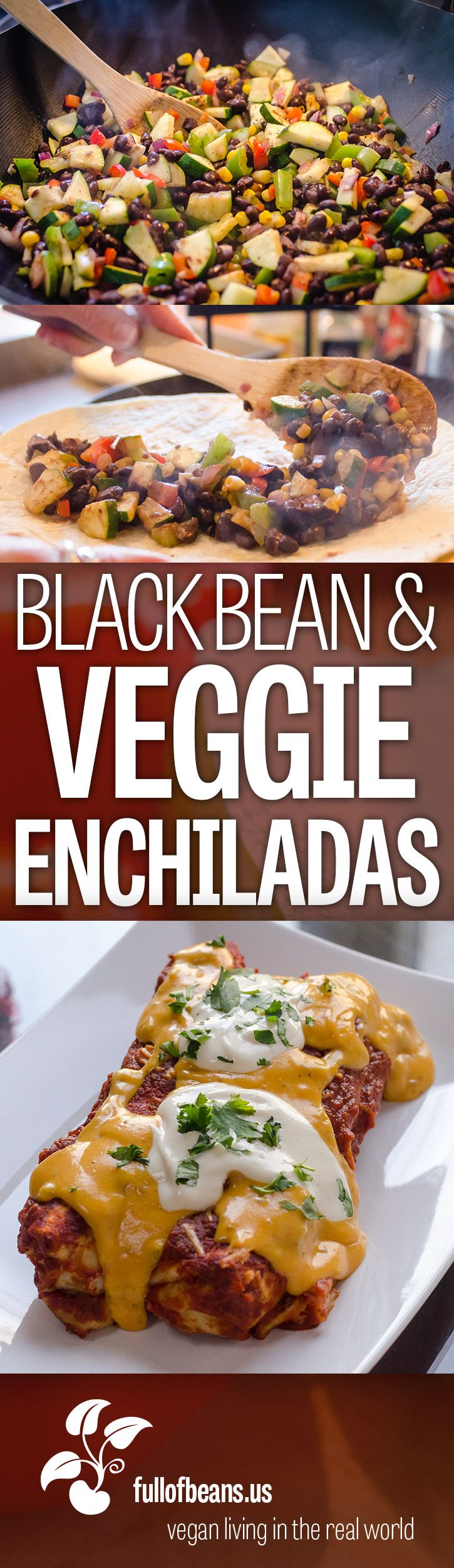 240 best latin south american food images on pinterest cooking hearty cheesy and delicious these black bean and veggie enchiladas will be a forumfinder Images