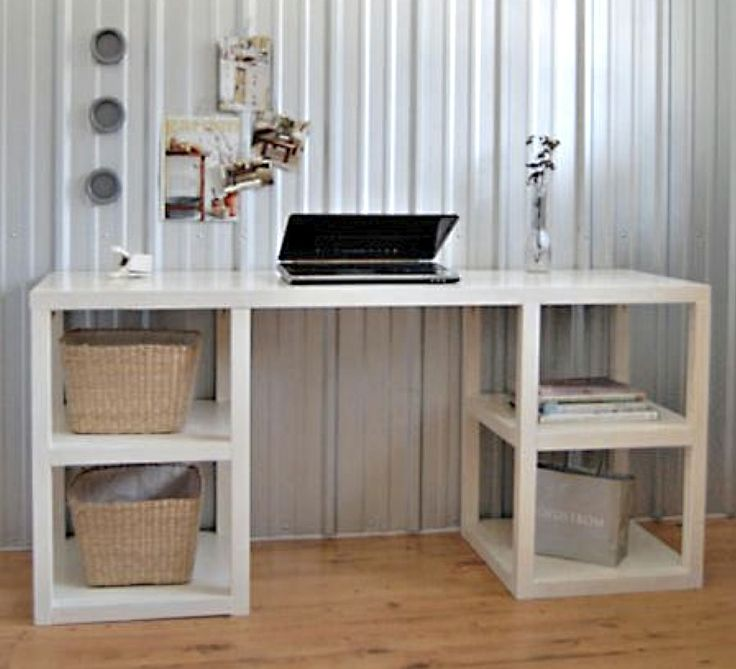 parsons tower desk diy project from ana white the home. Black Bedroom Furniture Sets. Home Design Ideas