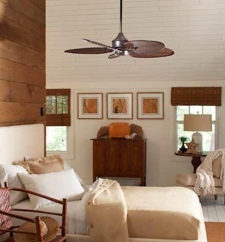 CASA BRUNO Islander ventilador de techo, marrón óxido, ISD4A: Dormitorios de estilo colonial de Casa Bruno American Home Decor