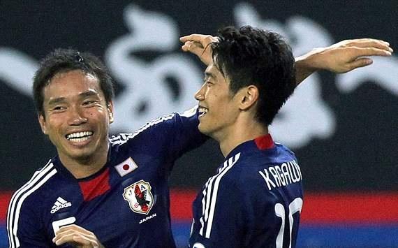 Japan - Yuto Nagatomo and Shinji Kagawa