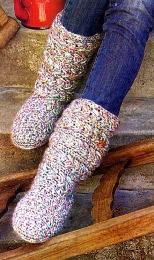 Mis Pasatiempos Amo el Crochet: Botas de ganchillo.