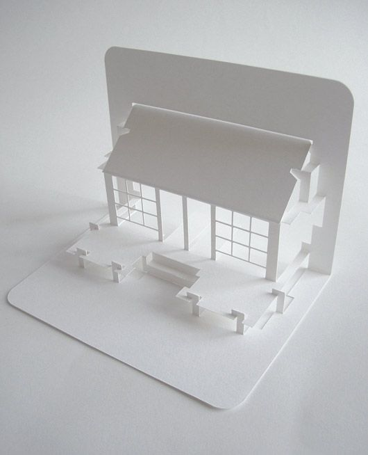 Japanese Tea House pop-up card - from a page with a great interview with Elod Beregszaszi.