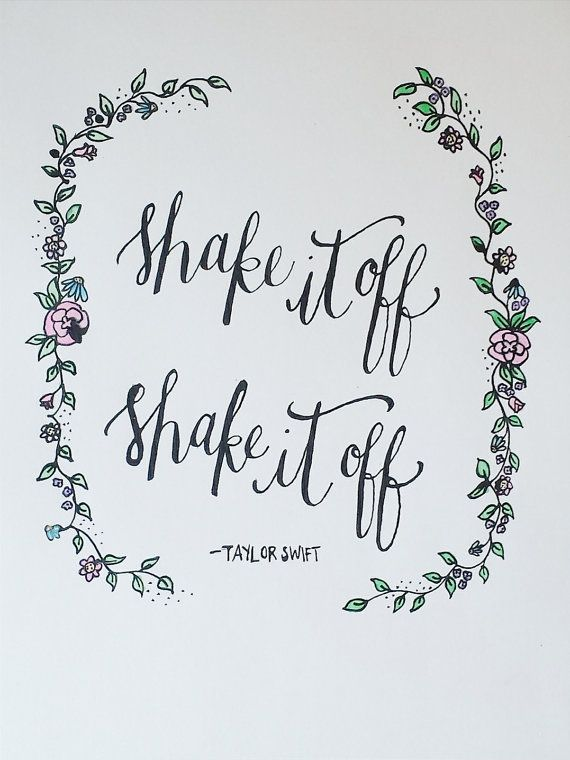Taylor Swift Shake It Off Lyrics by aLittleBirdieToldMee on Etsy