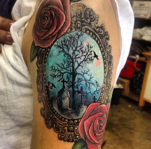 Flower Tree Tattoo: 1000+ Ideas About Graveyard Tattoo On Pinterest