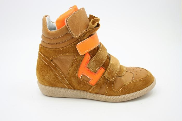 Hip Fashion sneaker with Orange Neon Details By Warmer $160.00