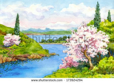 Watercolor Flowers Stock Photos, Images, & Pictures   Shutterstock
