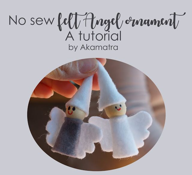 No sew felt angel ornament tutorial. And a lot of Christmas craft.