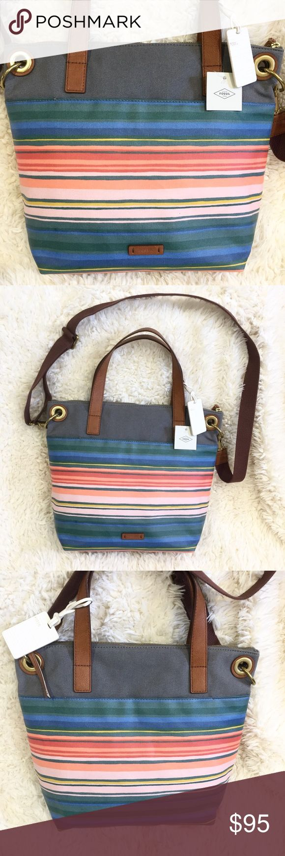 Flag Canvas Wall Art Plaque Nwt My Posh Picks T Fossil Keely Tote Striped Crossbody Coated