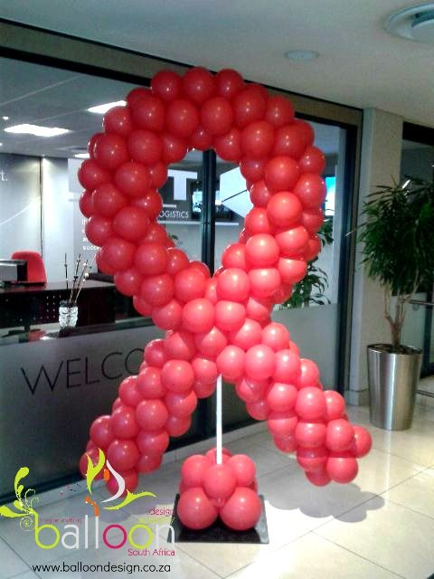 Aids Awareness Balloon Ribbon