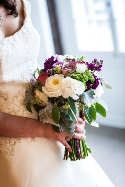 Purple Wedding Flowers Photos on WeddingWire