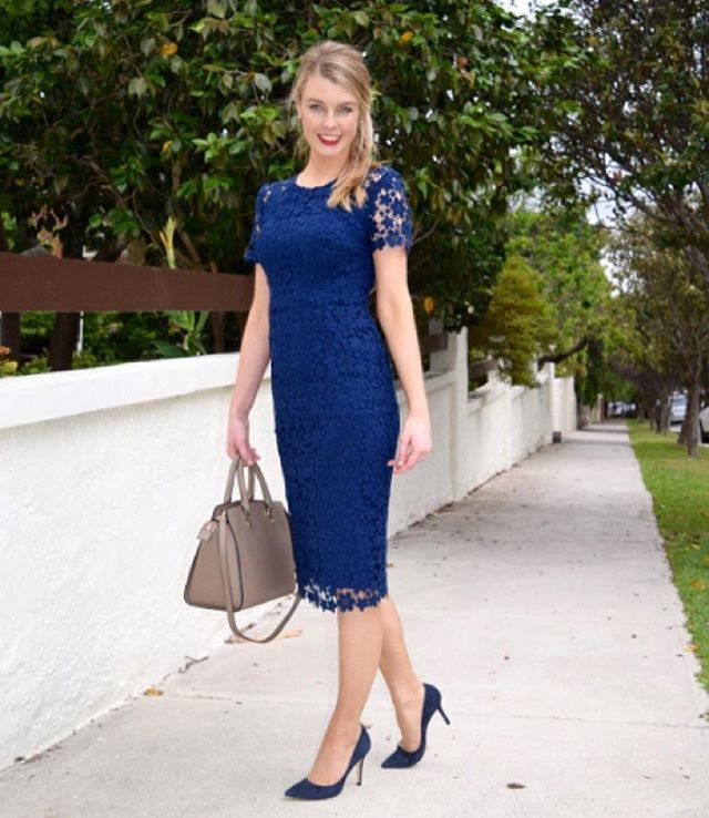 Perfect styling via @lawyersfashion featuring the Midnight Cotton Lace Dress #acstyle
