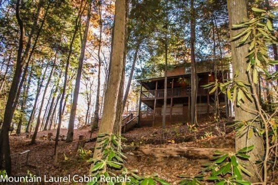 A RIVER RUNS BY IT- 3BR/2BA- CABIN ON BEAUTIFUL FIGHTINGTOWN CREEK SLEEPS 6, GAS FIREPLACE, HOT TUB, OUTDOOR FIRE PIT, SATELLITE TV, WIFI, NATURE TRAIL! STARTING AT $125 A NIGHT! - Image 1 - Blue Ridge - rentals