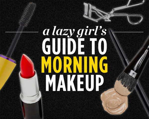 A Lazy Girl's Guide to Morning Makeup  http://www.womenshealthmag.com/beauty/lazy-girl-makeup-tips