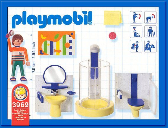 PLAYMOBIL  Set #3969   Modern Bathroom