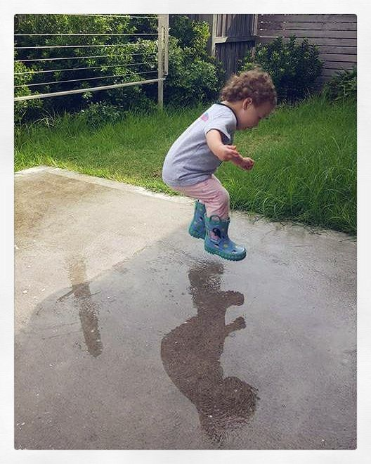 Puddles are a fun and amazing sensory and gross motor activity that gets sorely overlooked!