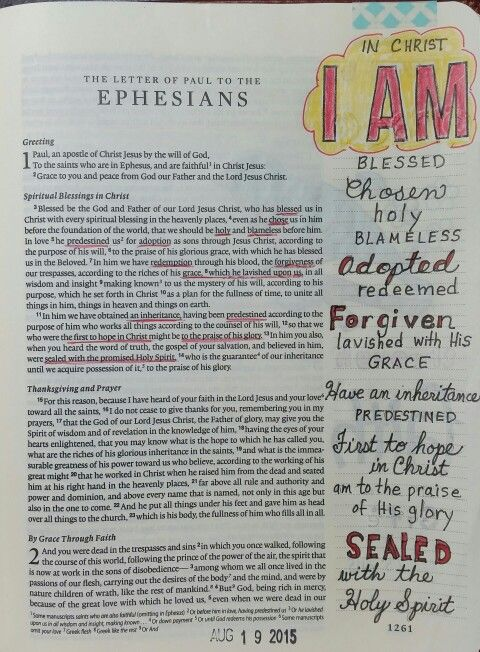 Ephesians 1 - Who I am in Christ, by Paula-Kay Bourland
