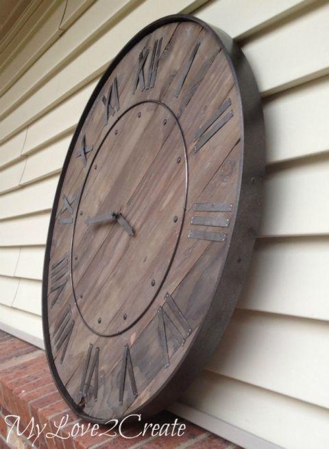 MyRepurposedLife   Pottery Barn  Large Rustic Clock DIY knockoff