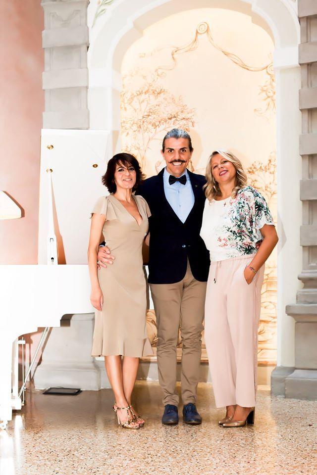 Fairytale wedding in Chateau Monfort- Ile Elle(Wedding Designer),Roberto(the celebrant) and Nataly(Wedding planner)