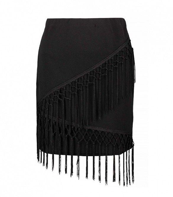 Laura Fringe A-Line Mini Skirt