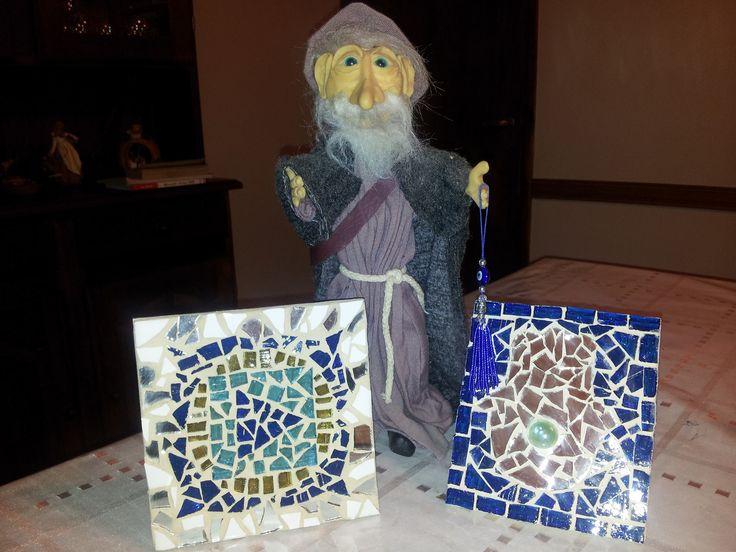 Mandala Muladhara (Yo Vivo) y Mano de Fátima (Amuleto de Protección). Mosaiquismo
