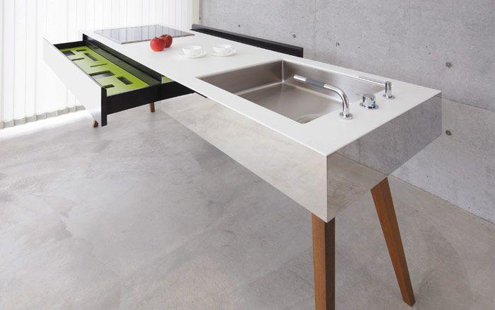 家具のようにシンプルなオーダーキッチン