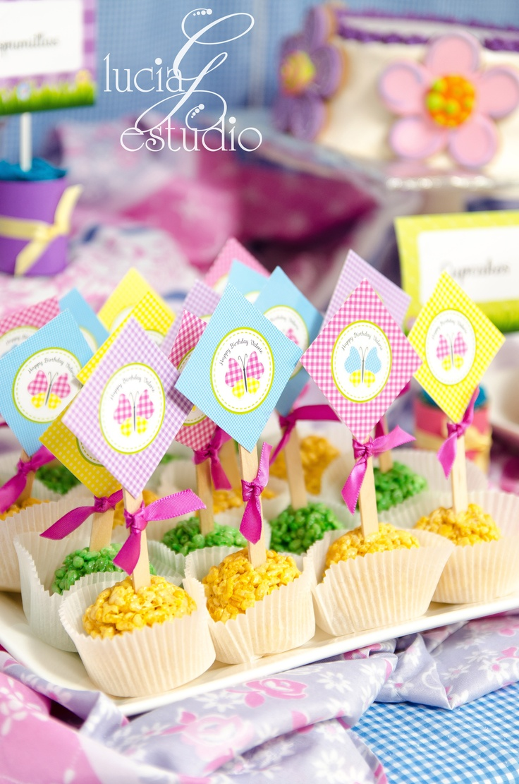 Dessert Table decorations for Spring Birthday Party