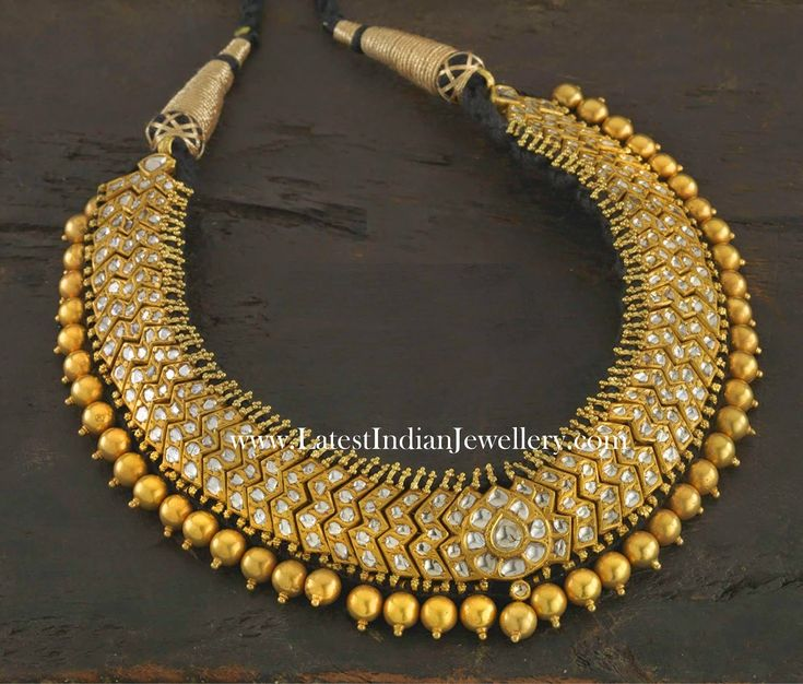 South Indian Traditional Gold Choker Necklace