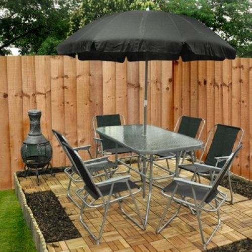8 Piece Rectangular Dining Set With Parasol Outdoor Patio Furniture Decor New   Enjoy this Wonderful Gift. Take a look LUXURY HOME BRANDS and get this bargainNow!